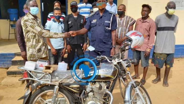 Hohoe MCE donates motorbike to Likpe Bala Police Station